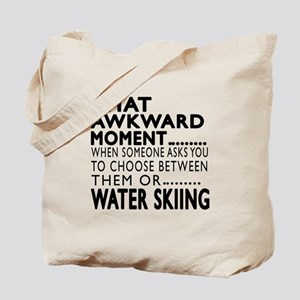 Water Skiing Awkward Moment Designs Tote Bag