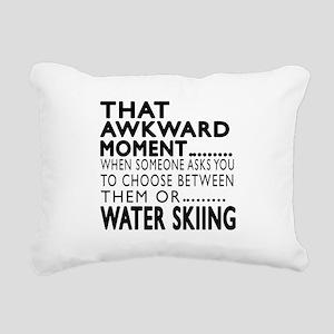 Water Skiing Awkward Mom Rectangular Canvas Pillow