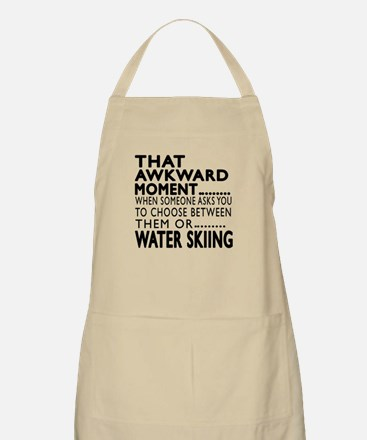 Water Skiing Awkward Moment Designs Apron