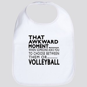 Volleyball Awkward Moment Designs Bib