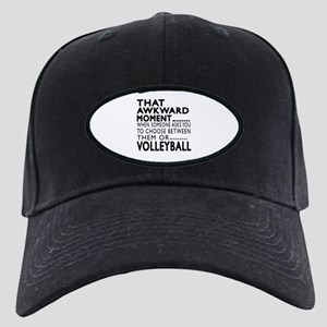 Volleyball Awkward Moment Designs Black Cap