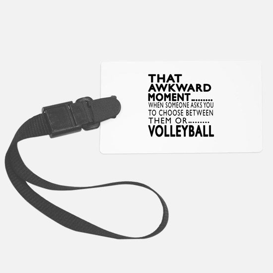 Volleyball Awkward Moment Design Luggage Tag