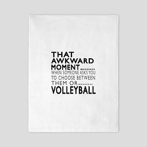 Volleyball Awkward Moment Designs Twin Duvet