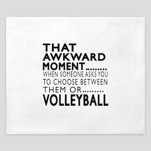 Volleyball Awkward Moment Designs King Duvet