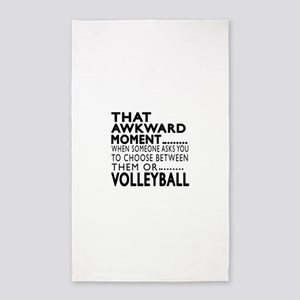 Volleyball Awkward Moment Designs Area Rug