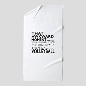 Volleyball Awkward Moment Designs Beach Towel