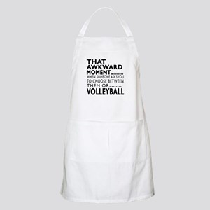 Volleyball Awkward Moment Designs Apron