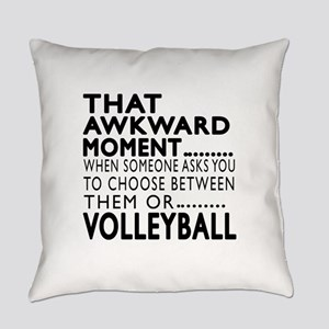 Volleyball Awkward Moment Designs Everyday Pillow