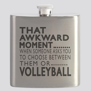 Volleyball Awkward Moment Designs Flask