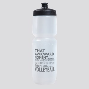 Volleyball Awkward Moment Designs Sports Bottle
