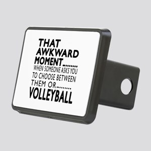 Volleyball Awkward Moment Rectangular Hitch Cover