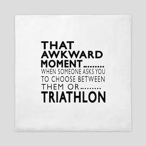 Triathlon Awkward Moment Designs Queen Duvet
