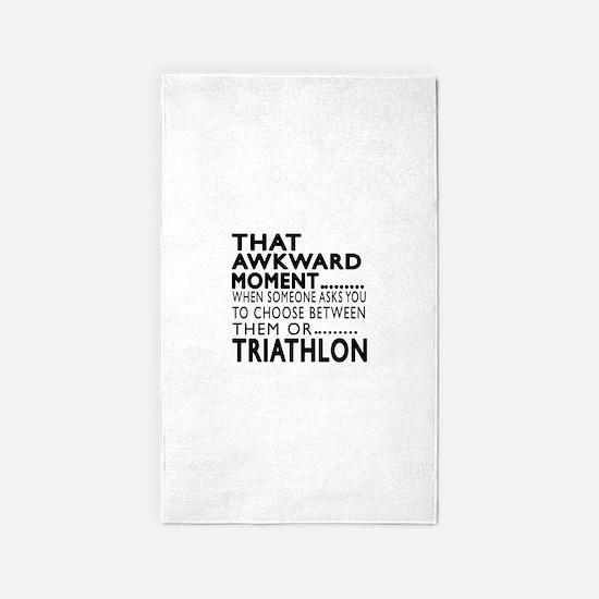 Triathlon Awkward Moment Designs Area Rug