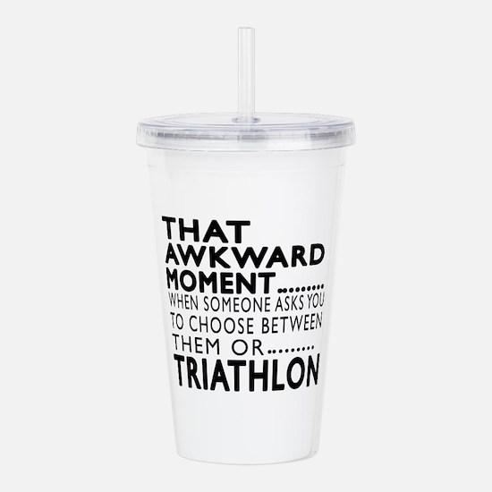 Triathlon Awkward Mome Acrylic Double-wall Tumbler