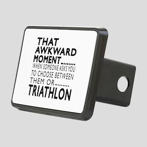 Triathlon Awkward Moment D Rectangular Hitch Cover