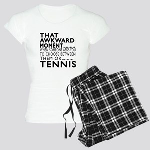 Tennis Awkward Moment Desig Women's Light Pajamas
