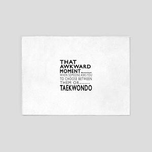 Taekwondo Awkward Moment Designs 5'x7'Area Rug