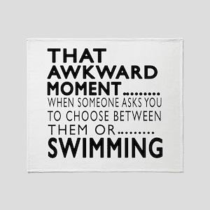 Swimming Awkward Moment Designs Throw Blanket
