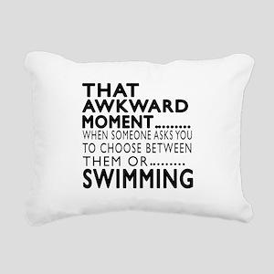 Swimming Awkward Moment Rectangular Canvas Pillow