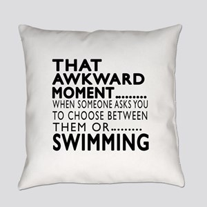 Swimming Awkward Moment Designs Everyday Pillow