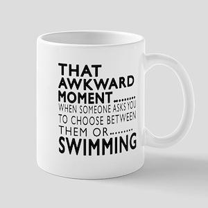 Swimming Awkward Moment Designs Mug