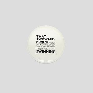 Swimming Awkward Moment Designs Mini Button