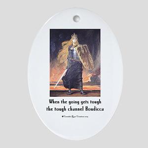 Boudi Call Oval Ornament