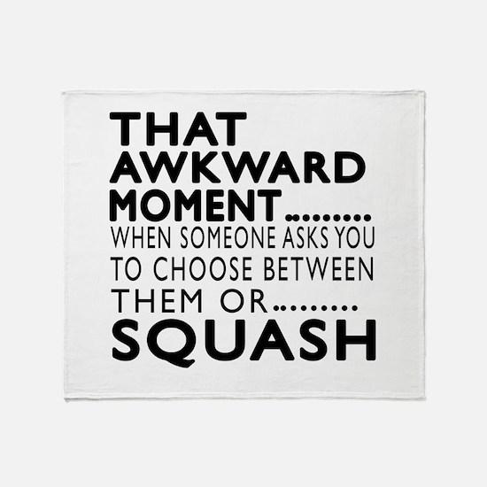 Squash Awkward Moment Designs Throw Blanket