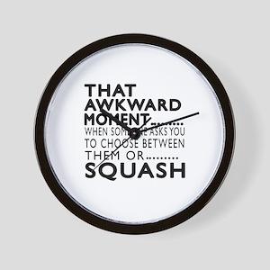 Squash Awkward Moment Designs Wall Clock