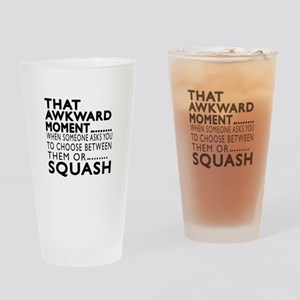 Squash Awkward Moment Designs Drinking Glass