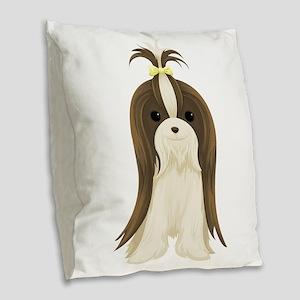 Shih Tzu Burlap Throw Pillow