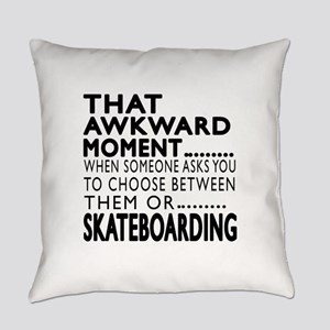 Skateboarding Awkward Moment Desig Everyday Pillow
