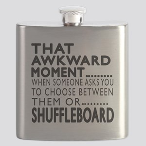 Shuffleboard Awkward Moment Designs Flask