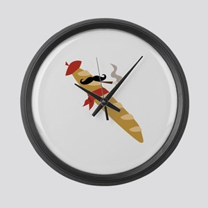 French Baguette Large Wall Clock