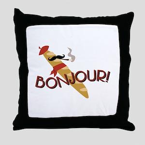Oui-Oui! Throw Pillow