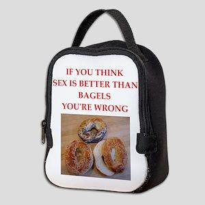 a funny food joke Neoprene Lunch Bag