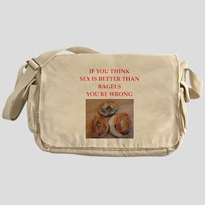 a funny food joke Messenger Bag