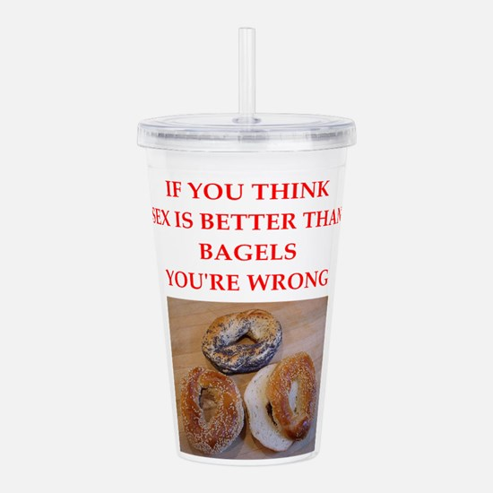a funny food joke Acrylic Double-wall Tumbler