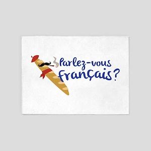 Parlez-vous Franais? 5'x7'Area Rug