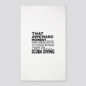 Scuba Diving Awkward Moment Designs Area Rug