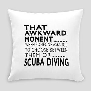 Scuba Diving Awkward Moment Design Everyday Pillow