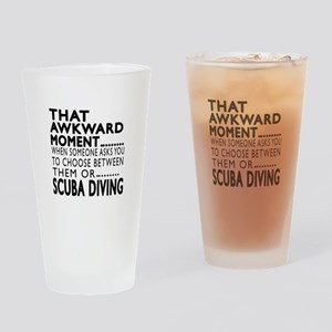 Scuba Diving Awkward Moment Designs Drinking Glass