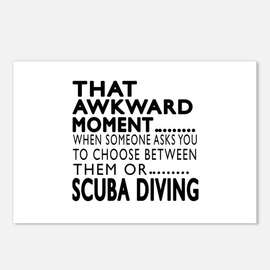 Scuba Diving Awkward Mome Postcards (Package of 8)
