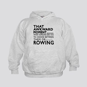 Rowing Awkward Moment Designs Kids Hoodie