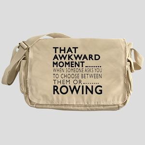 Rowing Awkward Moment Designs Messenger Bag