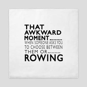 Rowing Awkward Moment Designs Queen Duvet
