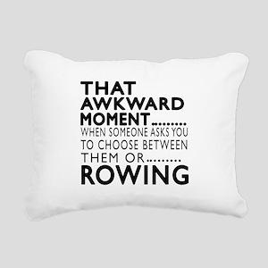 Rowing Awkward Moment De Rectangular Canvas Pillow