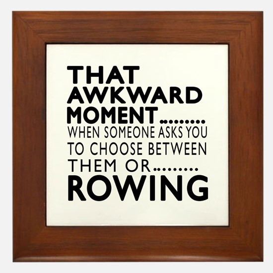 Rowing Awkward Moment Designs Framed Tile