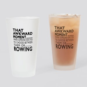 Rowing Awkward Moment Designs Drinking Glass