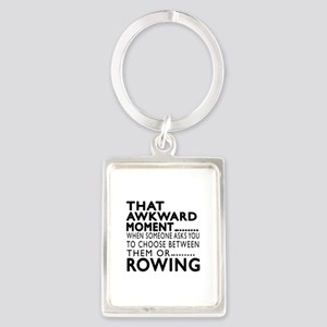 Rowing Awkward Moment Designs Portrait Keychain
